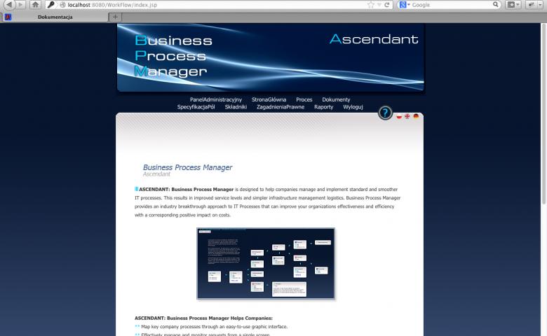 Aplikacja do modelowania procesów biznesowych