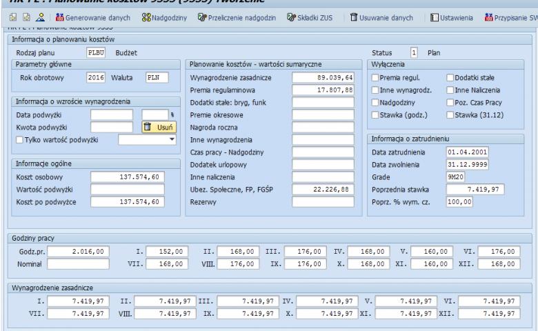 Aplikacja do planowania i budżetowania kosztów osobowych (Cost Planning and Budgeting Application)