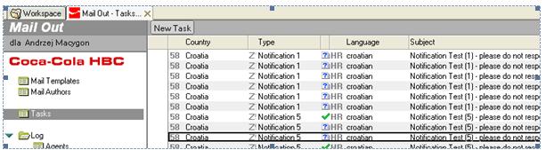 Aplikacja do monitorowania procesów biznesowych (Notification Tool)