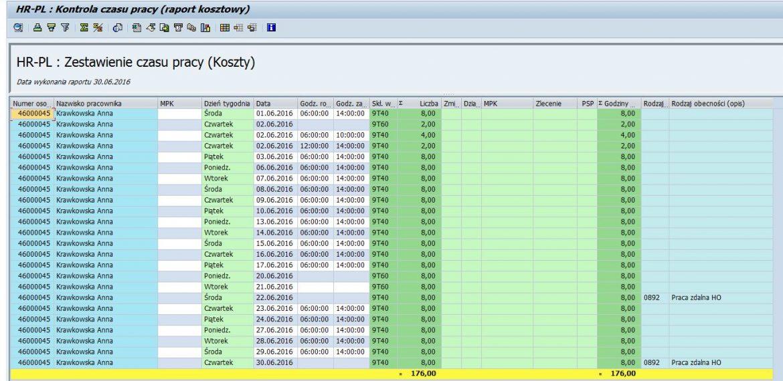 Aplikacja do kontroli poprawności przeliczenia czasu pracy  (Time Audit)